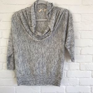 Anthropologie Moth Gray light neck Sweater Small